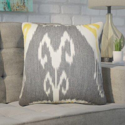 Witkowski Ikat Throw Pillow Color: Gray
