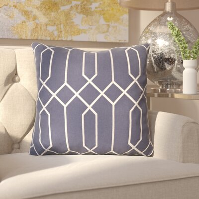 Kaivhon Linen Throw Pillow Size: 18 H x 18 W x 4 D, Color: Slate