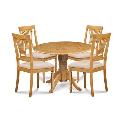 Almendarez 5 Piece Drop Leaf Breakfast Nook Dining Set