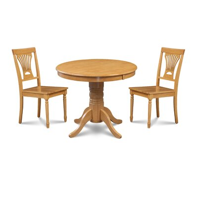 Almaraz 3 Piece Breakfast Nook Dining Set Color: Oak