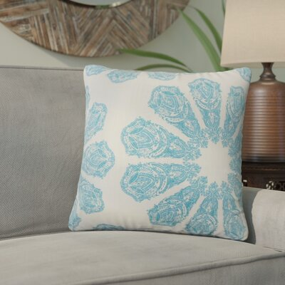 Christy Ikat Cotton Throw Pillow Color: Turquoise
