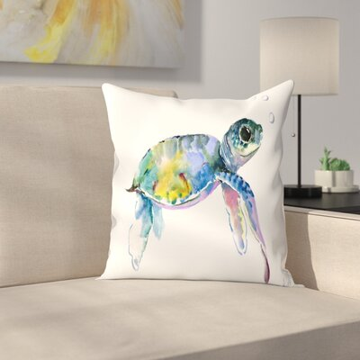 Suren Nersisyan Baby Sea Turtles 2 Throw Pillow Size: 14 x 14