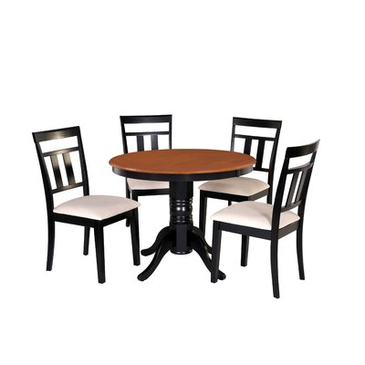 Dahle 5 Piece Dining Set Chair Color: Cream