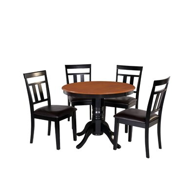 Dahle 5 Piece Dining Set Chair Color: Brown