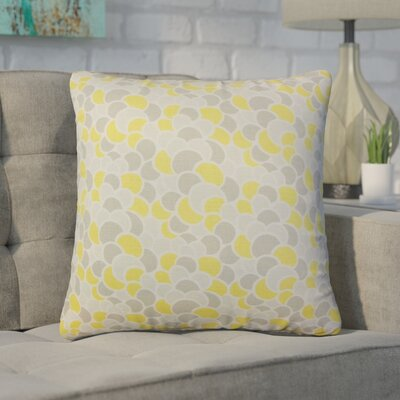 Basinger Geometric Cotton Throw Pillow Color: Canary