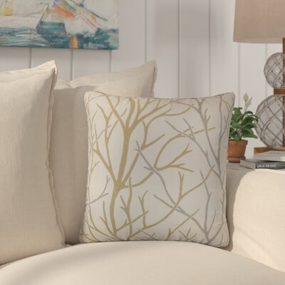Willow Trees Cotton Throw Pillow Color: Toffee