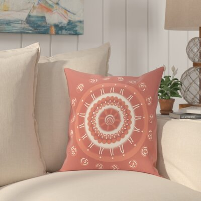 Rajashri Geometric Square Throw Pillow Size: 18 H x 18 W, Color: Coral