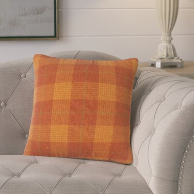 Harriette Plaid Throw Pillow Color: Orange