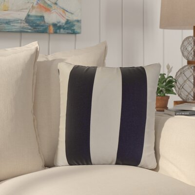 Eng Stripes Cotton Throw Pillow Color: Black/white
