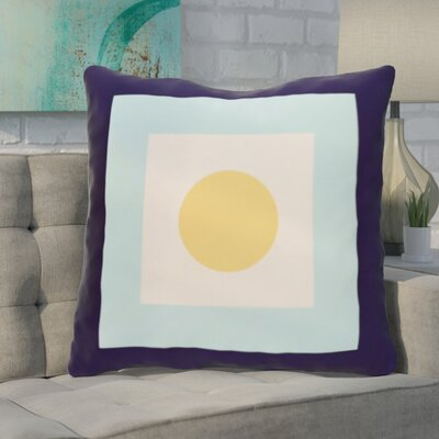 Carnell Throw Pillow Size: 26 H x 26 W, Color: Navy / Lemon