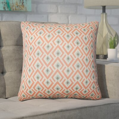 Wyncote Geometric Cotton Throw Pillow Color: Orange
