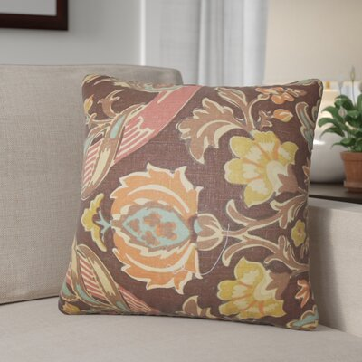 Dolton Square Linen Throw Pillow Color: Brown