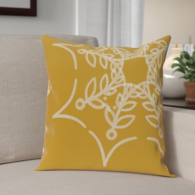 Web Art Holiday Print Outdoor Throw Pillow Size: 18 H x 18 W, Color: Gold