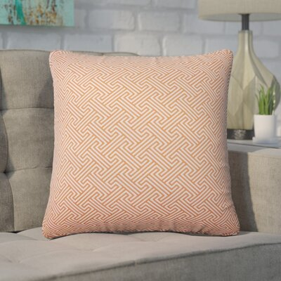 Wyckhoff Geometric Cotton Throw Pillow Color: Orange
