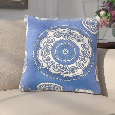 Innocenzio Floral Cotton Throw Pillow Color: Blue