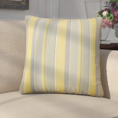 Enok Striped Cotton Throw Pillow Color: Buttercup