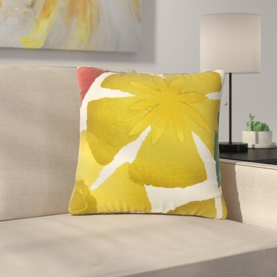 Pohl Floral Cotton Throw Pillow Color: Pomegrenate