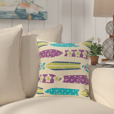Golden Beach Dean Geometric Throw Pillow Size: 18 H x 18 W, Color: Purple