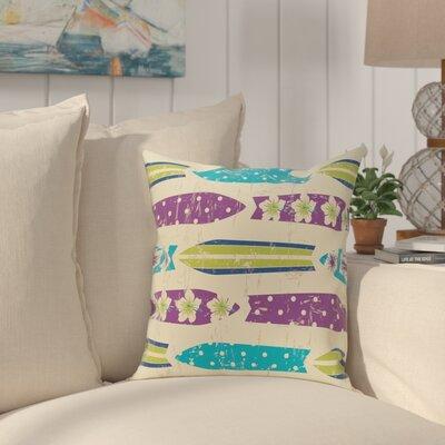 Golden Beach Dean Geometric Throw Pillow Size: 16 H x 16 W, Color: Purple