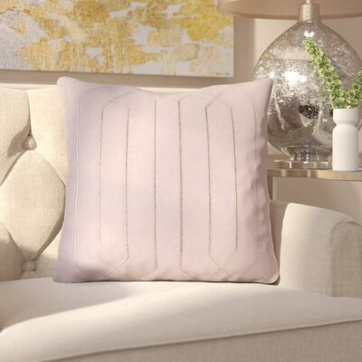 Kaivhon Square Linen Throw Pillow Size: 20 H x 20 W x 4 D, Color: Mauve