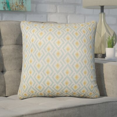 Wyncote Geometric Cotton Throw Pillow Color: Yellow