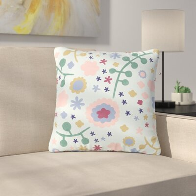 Alik Arzoumanian Morning Flowers Outdoor Throw Pillow Size: 16 H x 16 W x 5 D, Color: Pink/Blue