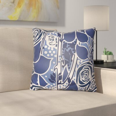 Capron Throw Pillow Size: 20 H x 20 W x 4 D, Color: Dark Blue