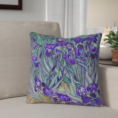 Morley Irises Square Pillow Cover Size: 14 x 14, Color: Purple