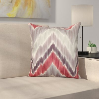 Earlwood Throw Pillow Color: Gray / Red, Size: 18x18