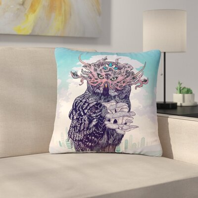 Mat Miller Journeying Spirit (Owl) Fantasy Outdoor Throw Pillow Size: 16 H x 16 W x 5 D