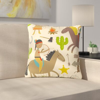 Petit Griffin Tipi Kids Outdoor Throw Pillow Size: 18 H x 18 W x 5 D