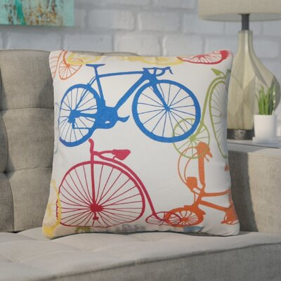 Woodbine Bicycles Cotton Throw Pillow