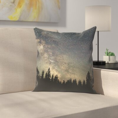 Luke Gram Stars Over the Forest Ii Throw Pillow Size: 14 x 14