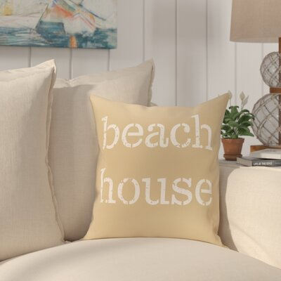 Cedarville Beach House Throw Pillow Size: 16 H x 16 W, Color: Taupe/Beige