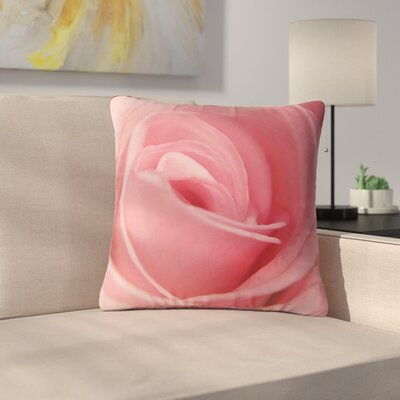 Angie Turner Soft Rose Outdoor Throw Pillow Size: 18 H x 18 W x 5 D