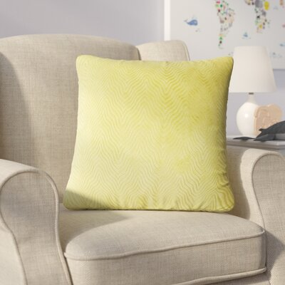 Bartle Solid Throw Pillow Color: Citron