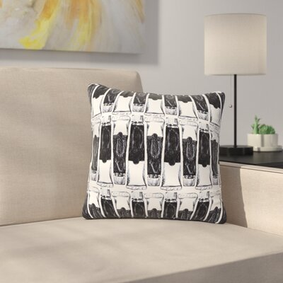 Paint Tubes by Theresa Giolzetti Outdoor Throw Pillow Color: Black/White