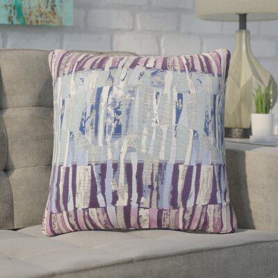 Wimbish Stripes Throw Pillow Color: Violet