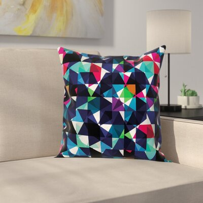 Modern Stain Resistant Geometric Square Pillow Cover Size: 16 x 16