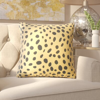 Chisley Polka Dot Down Filled 100% Cotton Throw Pillow Size: 18 x 18, Color: Tan