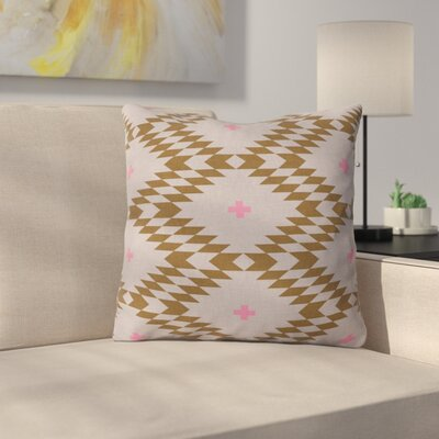 Throw Pillow Size: 18 H x 18 W x 5 D, Color: Brown/Pink