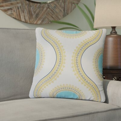 Gwendolyn Graphic Cotton Throw Pillow Color: Light Blue