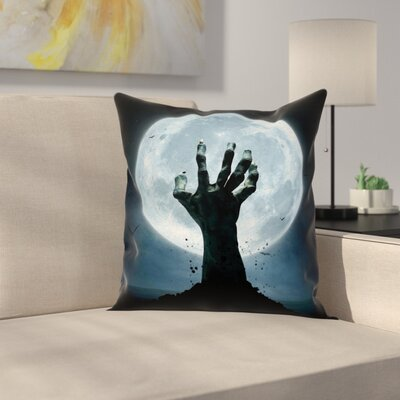 Halloween Decor Zombie Grave Square Pillow Cover Size: 18 x 18
