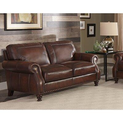 Trecartin Genuine Leather Loveseat