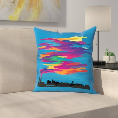 Joe Van Wetering Hidden in the Day Smog Throw Pillow Size: 16 x 16