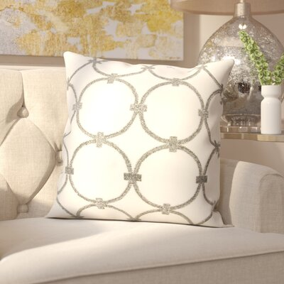 Hertzog Throw Pillow Color: Pewter