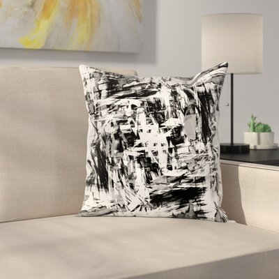 Grunge Artwork Square Pillow Cover Size: 18 x 18
