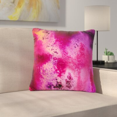 Nina May Rosewater Sun Outdoor Throw Pillow Size: 18 H x 18 W x 5 D, Color: Pink/Purple