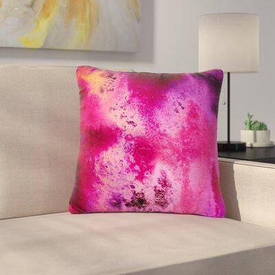 Nina May Rosewater Sun Outdoor Throw Pillow Size: 16 H x 16 W x 5 D, Color: Pink/Purple