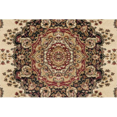 Clarence Ivory/Red Area Rug Rug Size: Rectangle 2  x 10
